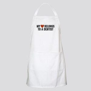 My Heart Belongs to a Dentist BBQ Apron