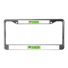 I Love-Alien Spanking License Plate Frame
