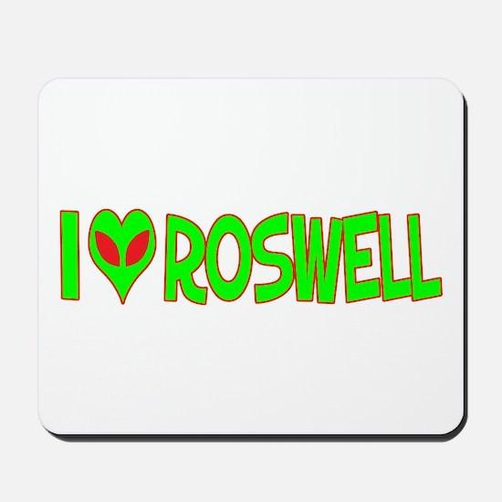 I Love-Alien Roswell Mousepad