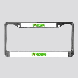 I Love-Alien Probing License Plate Frame