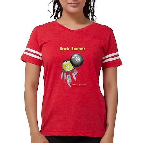 Rack Runner Billiard Dreamcatcher womens football style t-shirt