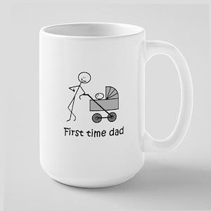 """""""First time dad"""" Lg. Mug"""