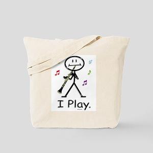 Clarinet Stick Figure Tote Bag