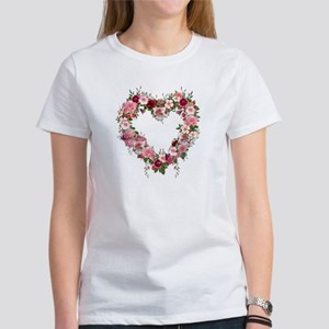 Floral Heart Women's T-Shirt