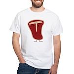 T-bone steak White T-Shirt