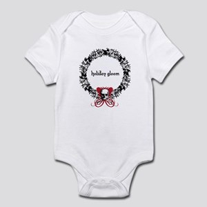 Holiday Gloom Skull Wreath Infant Bodysuit