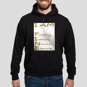 I am fine Hoodie (dark)