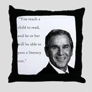 Bushish Stupid Quote Throw Pillow