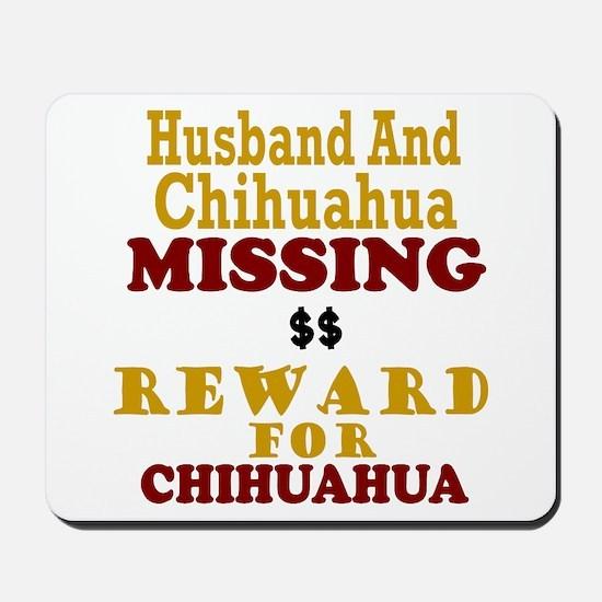 Husband & Chihuahua Missing Mousepad