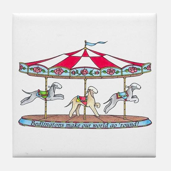 Bedlington Carousel Tile Coaster