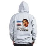 anti-Obama Fool the People Zip Hoodie