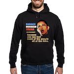 anti-Obama Fool the People Hoodie (dark)