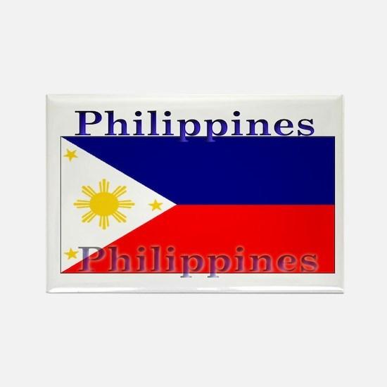 Philippines Filipino Flag Rectangle Magnet