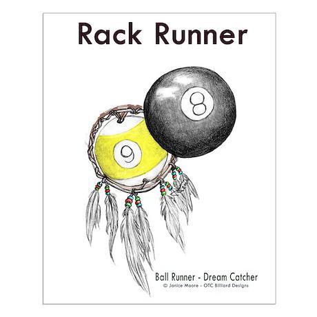 Rack Runner - Billiard Dreamcatcher Small Poster