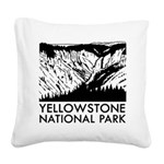 Yellowstone National Park Square Canvas Pillow