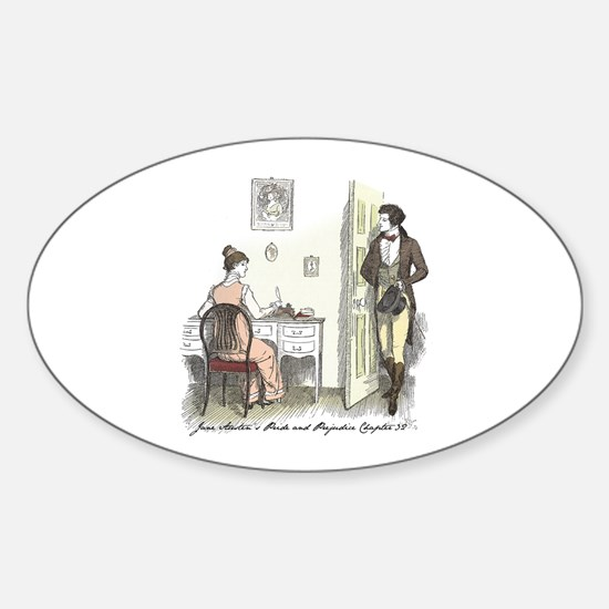 Pride & Prejudice Ch 32 Oval Decal
