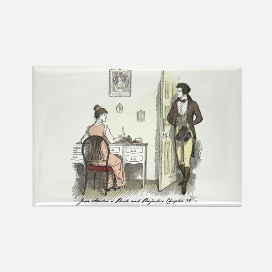 Pride & Prejudice Ch 32 Rectangle Magnet