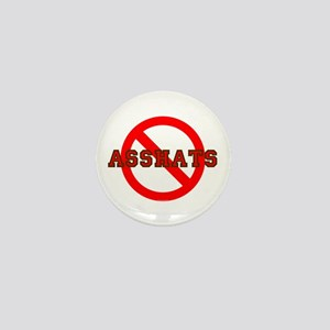 No Asshats Mini Button