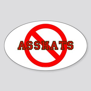 No Asshats Oval Sticker