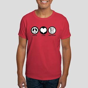 Peace Love Dentistry Dark T-Shirt
