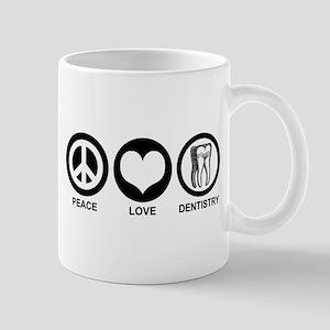 Peace Love Dentistry Mug