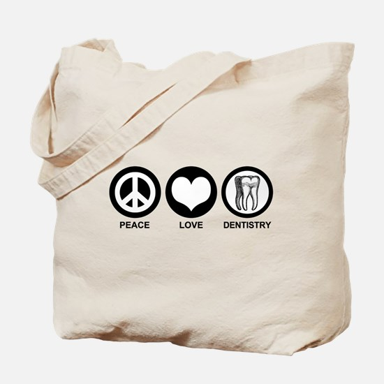 Peace Love Dentistry Tote Bag