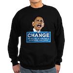 Obama-style CHANGE Sweatshirt (dark)