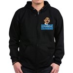 Obama-style CHANGE Zip Hoodie (dark)