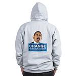 Obama-style CHANGE Zip Hoodie