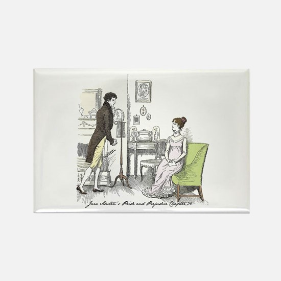 Pride & Prejudice Ch 34 Rectangle Magnet