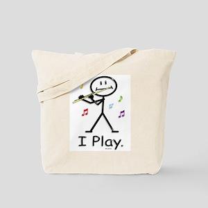Flutist Stick Figure Tote Bag