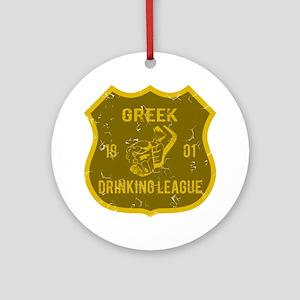 Greek Drinking League Ornament (Round)