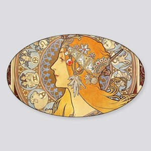Alphonse Mucha Zodiac Woman Art Nouveau Sticker