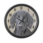Flat-Coated Retriever Large Wall Clock