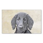 Flat-Coated Retriever Sticker (Rectangle)