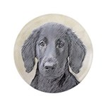 Flat-Coated Retriever Button