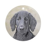 Flat-Coated Retriever Round Ornament