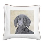 Flat-Coated Retriever Square Canvas Pillow
