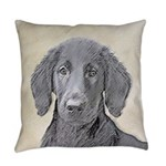 Flat-Coated Retriever Everyday Pillow