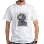 Flat-Coated Retriever White T-Shirt