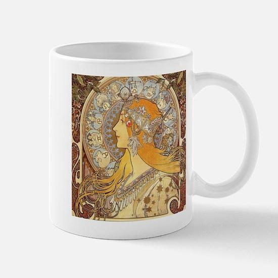 Alphonse Mucha Zodiac Woman Art Nouveau Mugs