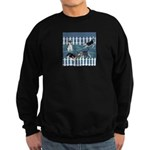 Siberian Husky Puppy Pen Sweatshirt (dark)