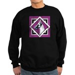 Harlequin Great Dane design Sweatshirt (dark)