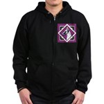 Harlequin Great Dane design Zip Hoodie (dark)