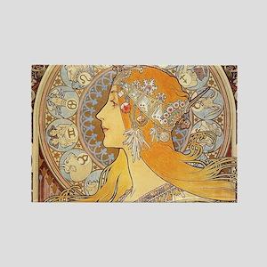 Alphonse Mucha Zodiac Woman Art Nouveau Magnets