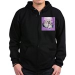 Great Pyranees Pup Zip Hoodie (dark)