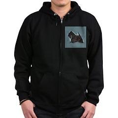 Scottish Terrier - Scotty Dog Zip Hoodie (dark)