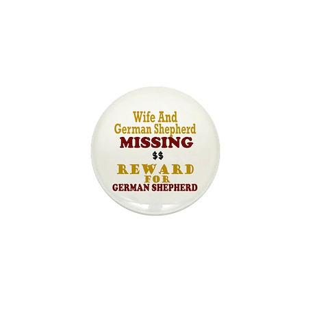 Wife & German Shepherd Missing Mini Button
