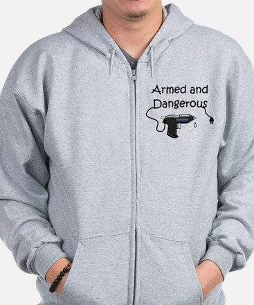 Armed and Dangerous Crafts Zip Hoodie