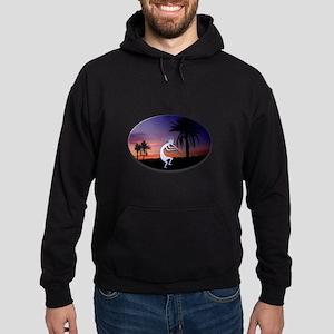 Kokopelli Sunset Oval Hoodie (dark)
